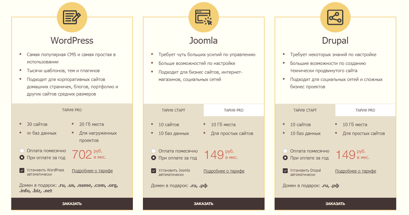готовый сайт на хостинге joomla